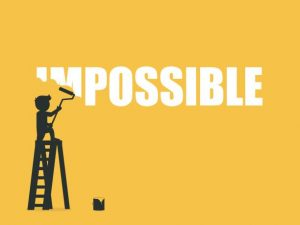 istockphoto 700500748 612x612 300x225 Businessman erasing the word impossible. Vector illustration.
