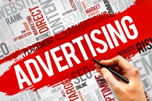 Advertising word block 300x200 Advertising word block